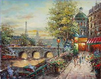 Commercial Street Scenery Paintings