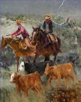 Original Cowboy Western Art Paintings