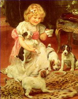 Pets and Children Paintings