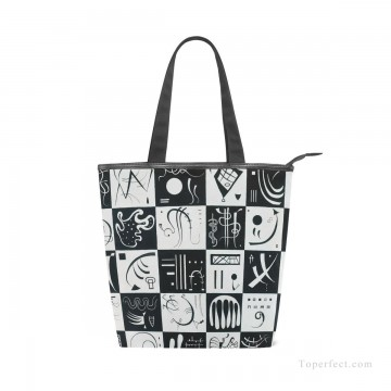 Bag Painting - Personalized Canvas Handbags Purse Classic Artworks contemporary abstract painting Thirty Trente USD14 1