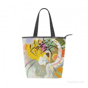 Bag Painting - Personalized Canvas Handbags Purse in Classic Artworks abstract painting Dominant Curve by Wassily Kandinsky USD14 1