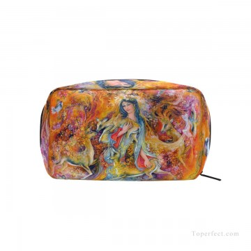 Make Art - Personalized Cosmetic Bag Storage Bag Square Packet Makeup Bag in Persian Miniatures painting Fairyland USD8 1