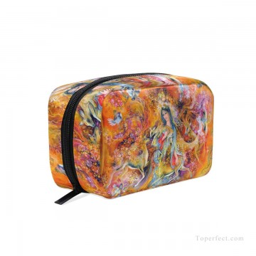 Make Art - Personalized Cosmetic Bag Storage Bag Square Packet Makeup Bag in Persian Miniatures painting Fairyland USD8 5