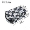 Personalized Cosmetic Bag Storage Bag Square Packet Makeup Bag in Surrealism painting homage to alphonse allais USD8 2