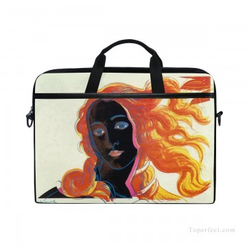 Frame Painting - Personalized Laptop Bag Briefcase in Classic Artworks POP Art Botticelli Venus in Black USD18 1