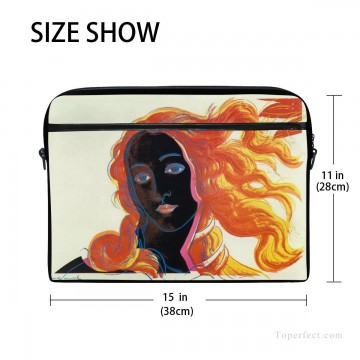 Frame Painting - Personalized Laptop Bag Briefcase in Classic Artworks POP Art Botticelli Venus in Black USD18 2