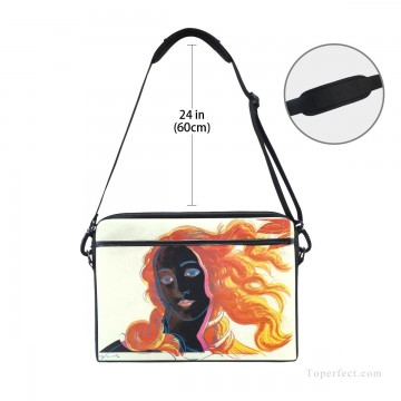 Frame Painting - Personalized Laptop Bag Briefcase in Classic Artworks POP Art Botticelli Venus in Black USD18 3