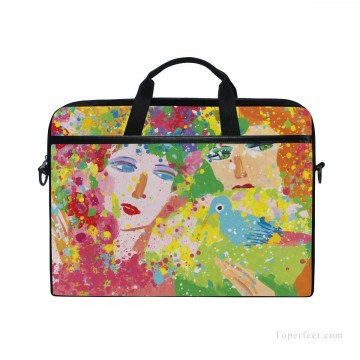 Frame Painting - Personalized Laptop Bag Briefcase in Classic Artworks oil painting Suddenly Spring Again USD18 1