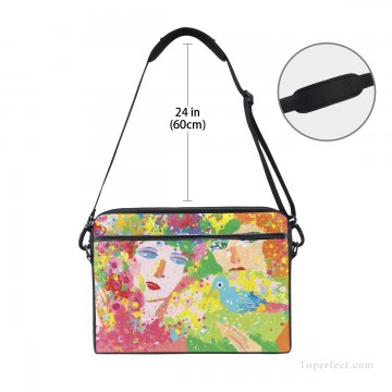 Frame Painting - Personalized Laptop Bag Briefcase in Classic Artworks oil painting Suddenly Spring Again USD18 3