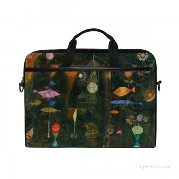 Frame Painting - Personalized Laptop Bag Briefcase in Classic Artworks painting Fish Magic by Paul Klee USD18 1