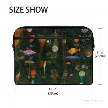 Frame Painting - Personalized Laptop Bag Briefcase in Classic Artworks painting Fish Magic by Paul Klee USD18 2