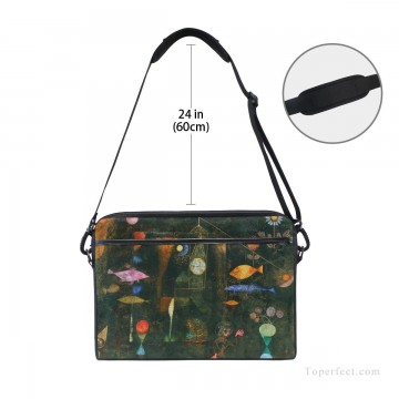 Frame Painting - Personalized Laptop Bag Briefcase in Classic Artworks painting Fish Magic by Paul Klee USD18 3