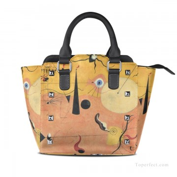 Handbag Art - Personalized Leather Handbag Purse with Removable Shoulder Strap Dadaism painting Catalan Landscape USD35 1