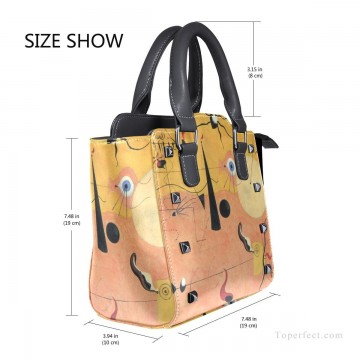Handbag Art - Personalized Leather Handbag Purse with Removable Shoulder Strap Dadaism painting Catalan Landscape USD35 3