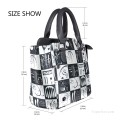 Personalized Leather Handbag Purse with Removable Shoulder Strap contemporary abstract painting Thirty Trente USD35 3