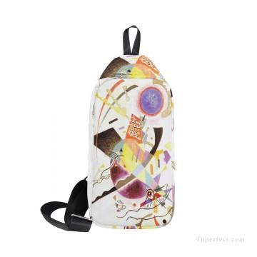 Frame Painting - Personalized Crossbody Bag Mini messenger Courier Bag Shoulder Bag Chest Backpack abstract painting by Wassily Kandinsky USD19 1