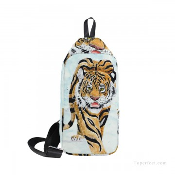 Frame Painting - Personalized Crossbody Bag Mini messenger Courier Bag Shoulder Bag Chest Backpack oil painting Tiger USD19 1