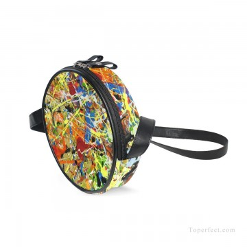Sling Art - Personalized Round Sling Bag Mini Canvas Small Shoulder Bag American Abstract Expressionism Painting USD12 1