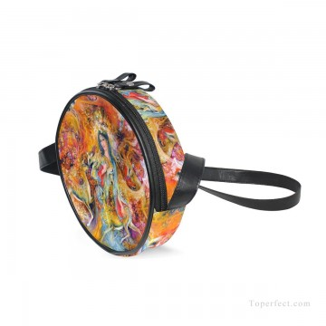 Personalized Bags in Art Painting - Personalized Round Sling Bag Mini Canvas Small Shoulder Bag Persian Miniatures painting Fairyland USD12 1