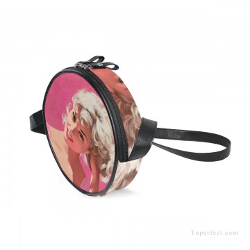 Customized Sling Bag in Art Painting - Personalized Round Sling Bag Mini Canvas Small Shoulder Bag Print Your Photo USD12 1