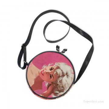 Customized Sling Bag in Art Painting - Personalized Round Sling Bag Mini Canvas Small Shoulder Bag Print Your Photo USD12 2