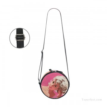Customized Sling Bag in Art Painting - Personalized Round Sling Bag Mini Canvas Small Shoulder Bag Print Your Photo USD12 3