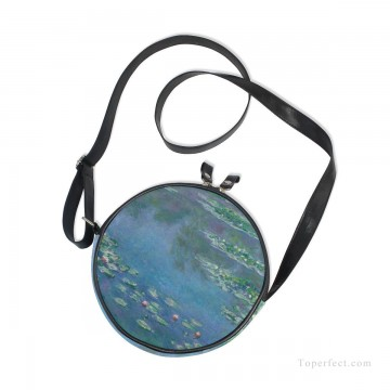 Sling Art - Personalized Round Sling Bag Mini Canvas Small Shoulder Bag oil painting Water Lilies Pond by Monet USD12 2