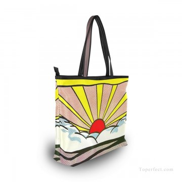 Personalized Canvas Tote Bag Purse POP art painting Sunrise by American artist USD19 5 Oil Paintings