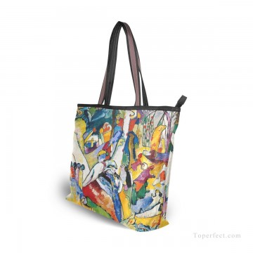 Personalized Bags in Art Painting - Personalized Canvas Tote Bag Purse abstract painting Sketch for Composition II by Wassily Kandinsky USD19 1