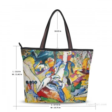 Customized Tote Bag in Art Painting - Personalized Canvas Tote Bag Purse abstract painting Sketch for Composition II by Wassily Kandinsky USD19 2