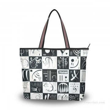 Personalized Bags in Art Painting - Personalized Canvas Tote Bag Purse contemporary abstract painting Thirty Trente USD19 1