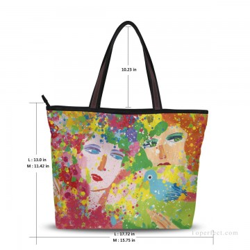Customized Tote Bag in Art Painting - Personalized Canvas Tote Bag Purse in Classic Artworks modern oil painting Suddenly Spring Again USD19 1
