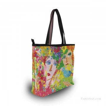 Personalized Bags in Art Painting - Personalized Canvas Tote Bag Purse in Classic Artworks modern oil painting Suddenly Spring Again USD19 2