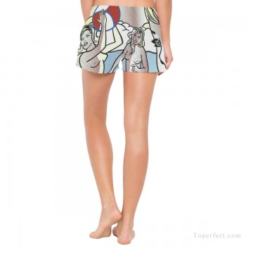 Personalized Clothing in Art Painting - Personalized Boardshorts female in POP art nude playing basketball USD13 3