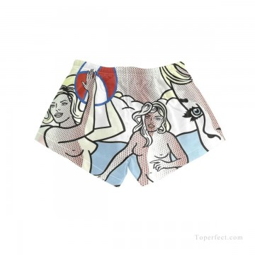Personalized Clothing in Art Painting - Personalized Boardshorts female in POP art nude playing basketball USD13 5