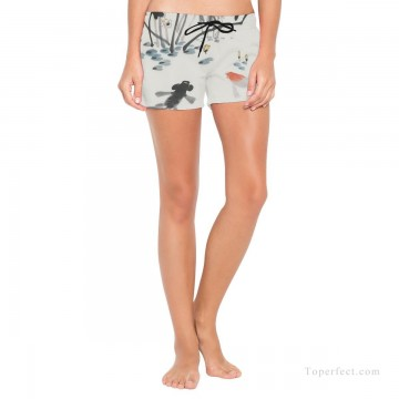 Personalized Boardshorts female in ink painting goldfish in lotus pond USD13 1 Oil Paintings