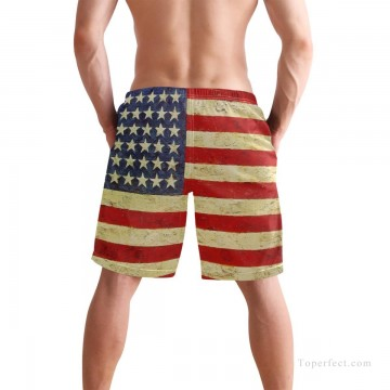 Personalized Clothing in Art Painting - Personalized Boardshorts in American flag USD13 2