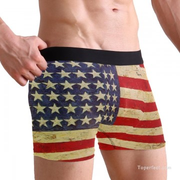 Personalized Clothing in Art Painting - Personalized Boxer shorts in American Flag USD10 1