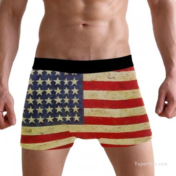 Personalized Boxer shorts in American Flag USD10 2 Oil Paintings