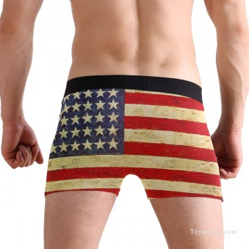 Personalized Boxer shorts in American Flag USD10 4 Oil Paintings