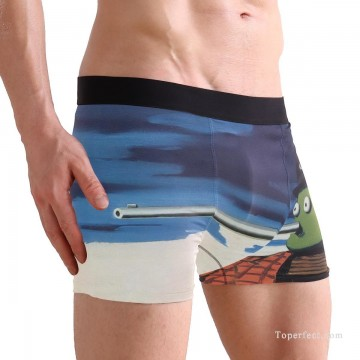 Personalized Clothing in Art Painting - Personalized Boxer shorts in Pinocchio USD10 3