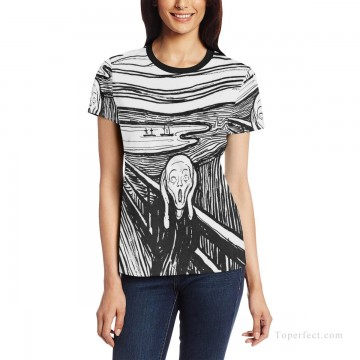 Customized T shirts in Art Painting - Personalized T shirts female in The Scream USD13 1