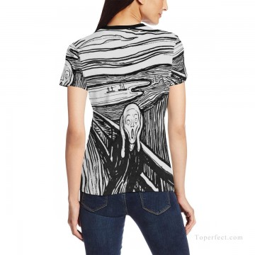 Personalized Clothing in Art Painting - Personalized T shirts female in The Scream USD13 2