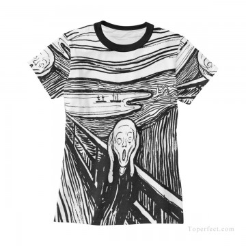 Personalized Clothing in Art Painting - Personalized T shirts female in The Scream USD13 3