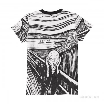 Customized T shirts in Art Painting - Personalized T shirts female in The Scream USD13 4