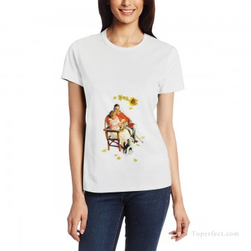 Customized T shirts in Art Painting - Personalized T shirts female in fat couple USD13 1