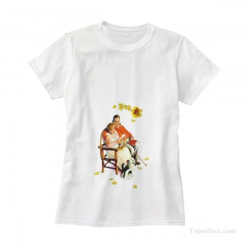 Customized T shirts in Art Painting - Personalized T shirts female in fat couple USD13 3