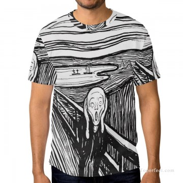 Personalized Clothing in Art Painting - Personalized T shirts male in The Scream USD13 1