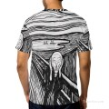 Personalized T shirts male in The Scream USD13 2
