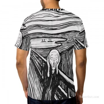 Personalized Clothing in Art Painting - Personalized T shirts male in The Scream USD13 2
